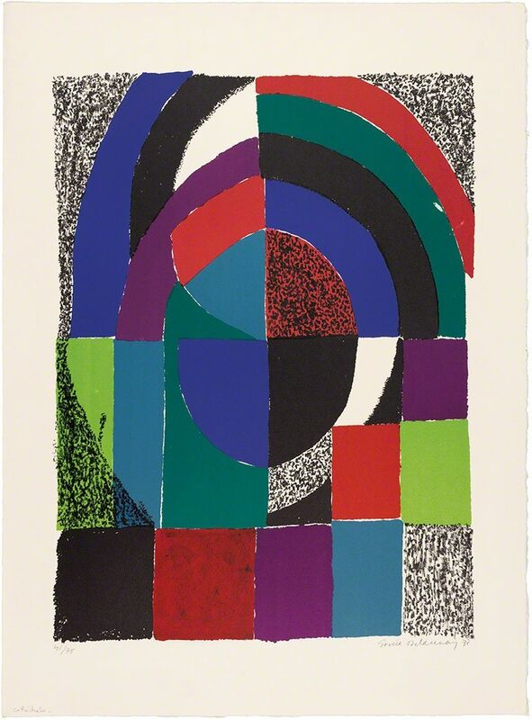 Sonia Delaunay, 'Cathédrale', 1971, Print, Color lithograph, on wove paper, Doyle