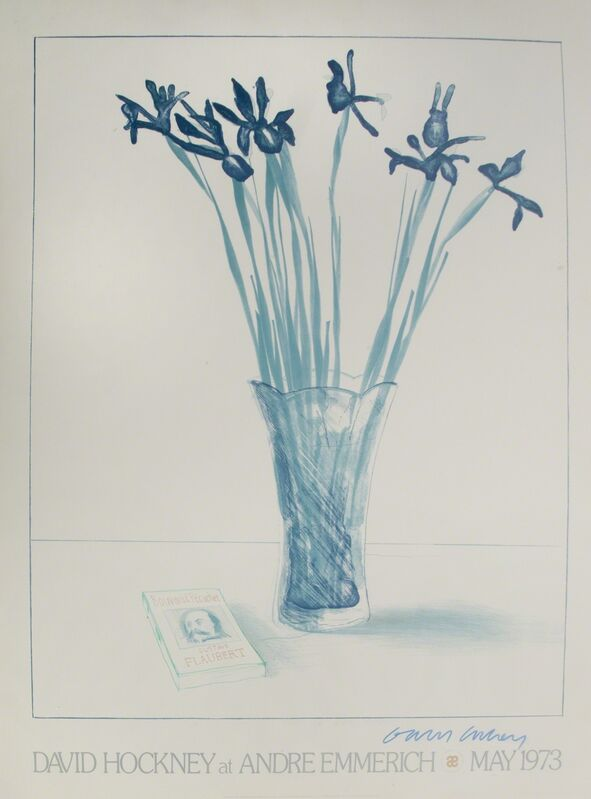 David Hockney, 'Andre Emmerich Gallery', 1973, Print, Offset lithograph poster, mounted on foam core, Julien's Auctions