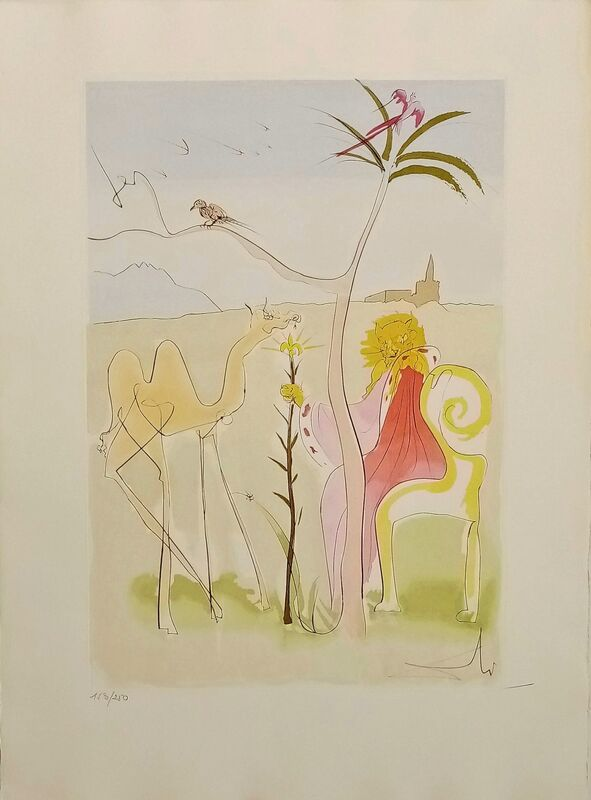 Salvador Dalí, 'The Lion's Court ', 1974, Drawing, Collage or other Work on Paper, Original engraving + added color, Dali Paris