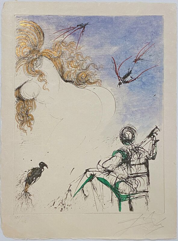 Salvador Dalí, 'Woman With Parrot –  Femme au Perroquet', 1967, Print, Original drypoint Etching, Off The Wall Gallery