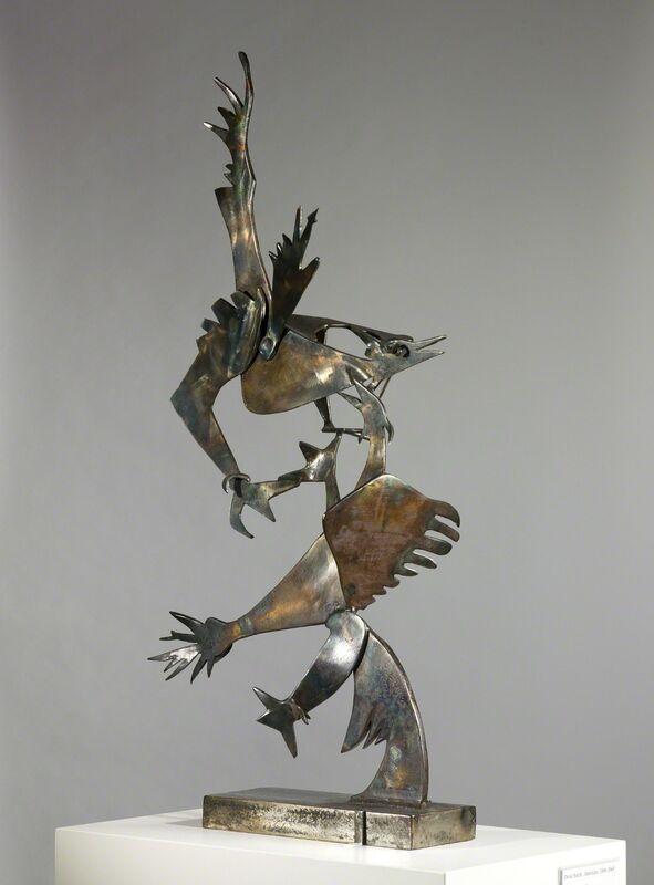 David Smith (1906-1965), 'Cockfight', 1945, Sculpture, Steel, Saint Louis Art Museum
