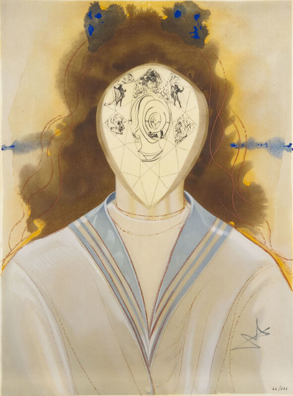 Salvador Dalí, 'Alchemy Of Philosophers - Immortality', 1975, Painting, Lithograph + Original Engraving + Serigraph on Parchment (hand-signed), Dali Paris