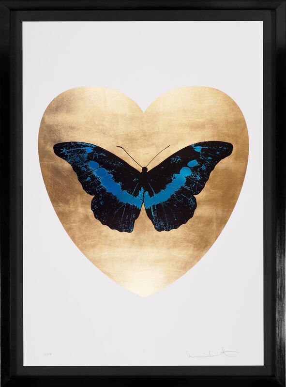 Damien Hirst, 'I Love You Butterfly, Turquoise/Gold', 2015, Print, Silkscreen, Foil Block, Gold leaf, Arton Contemporary
