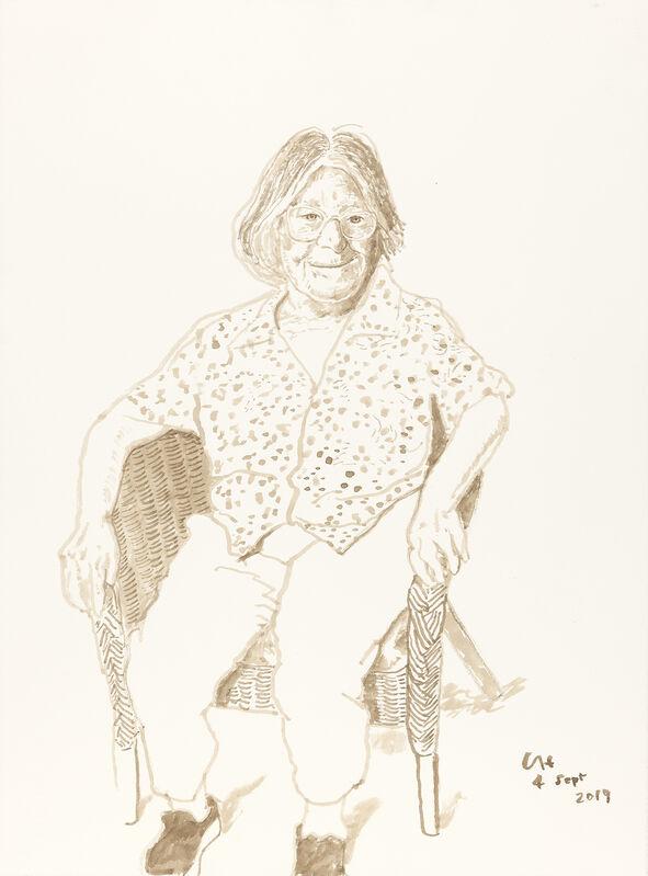 David Hockney, 'Margaret Hockney, 4th Sept 2019', 2019, Drawing, Collage or other Work on Paper, Ink on paper, Annely Juda Fine Art