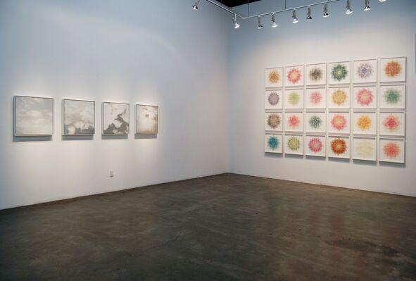 """Miya Ando's  銀河  Ginga (""""The Silver River"""" / """"Galaxy"""") and Mandala, installation view"""