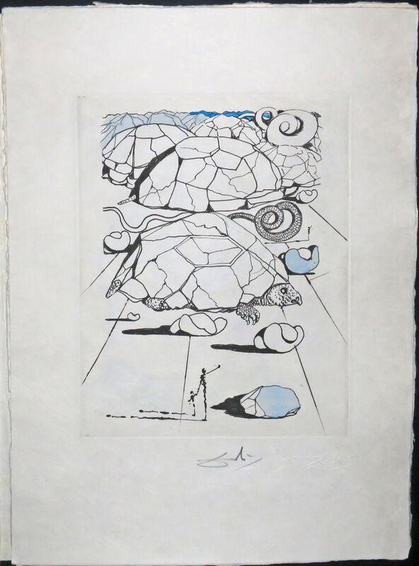 Salvador Dalí, 'La Tortue, Poèmes de Mao Tse-Toung. (The Turtle, Poems by Mao Tse-Toung).', 1967, Print, Original heliogravure and drypoint, with watercolor., Martinez D.