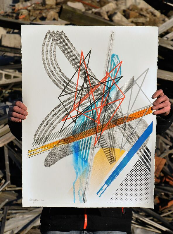 Gilbert1, 'Tirage unique sérigraphié #01', 2016, Print, Silkscreen on paper, framed, Mirus Gallery