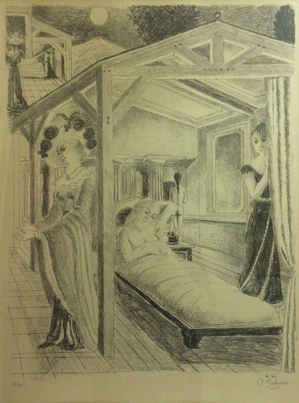 Paul Delvaux, 'La Mer est proche', 1966, Print, Lithograph, printed in black on Arches paper, Isselbacher Gallery