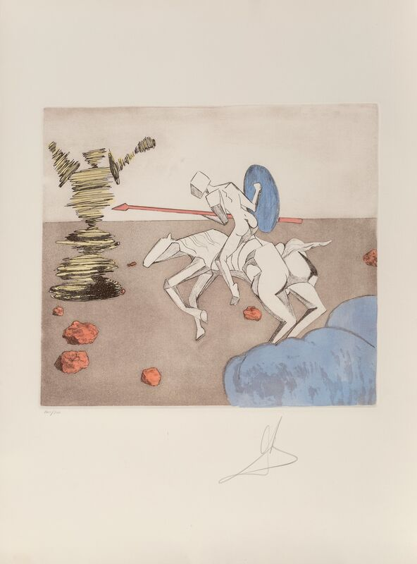 Salvador Dalí, 'The Quest, from Historia de Don Quichotte da la Mancha', 1980, Print, Etching with aquatint in colors on Arches paper, Heritage Auctions
