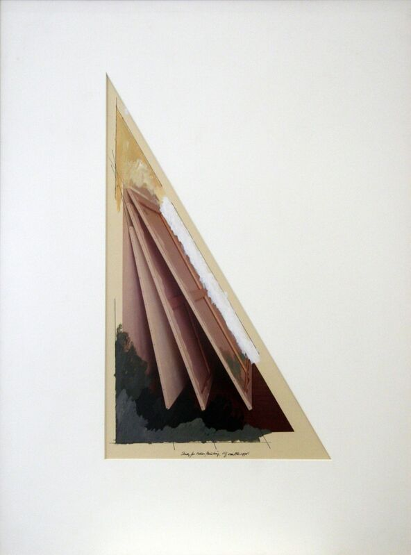 Ger van Elk, 'Study for Adieu Painting', 1978, Photography, Acrylic paint and color photography, Galerie Bob van Orsouw