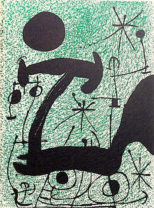 Joan Miró, 'Joan Miro,  L'Oiseau Solaire, L'Oiseau Lunaire,  Etincelles', 1967, Print, Velum paper, Modern-Originals