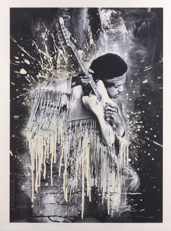 Mr. Brainwash, 'Jimi Hendrix', 2015, Print, Hand embellished lithographic print, Chiswick Auctions