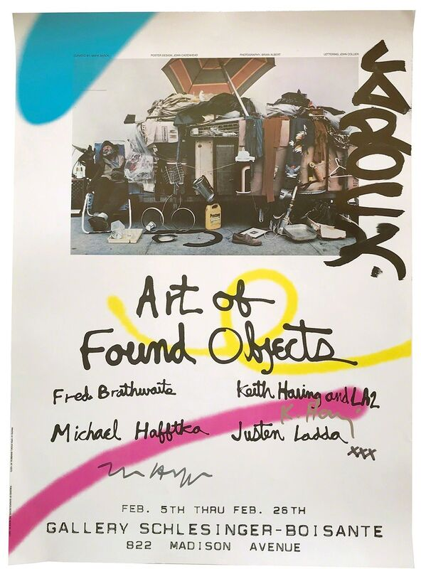 Keith Haring, 'Art of Found Objects Poster', 1983, Ephemera or Merchandise, Color offset lithograph exhibition poster, Alternate Projects