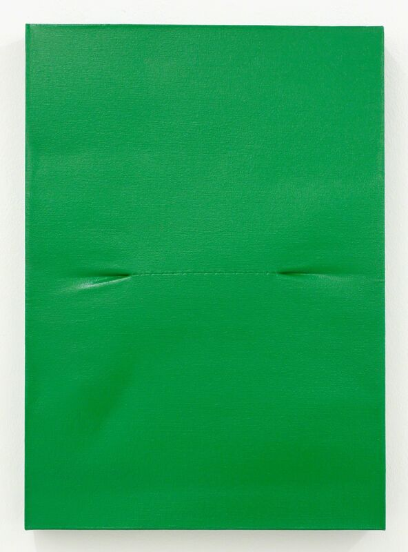 Angela de la Cruz, 'Scar Green', 2016, Painting, Oil on canvas, Galerie Krinzinger