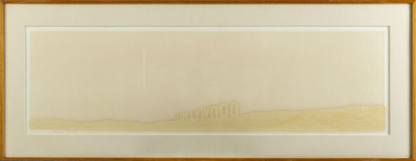 Ed Ruscha Pepto Caviar Hollywood Limited Signed Print screen print on colors Pepto, 1971, on Copperplate Deluxe paper