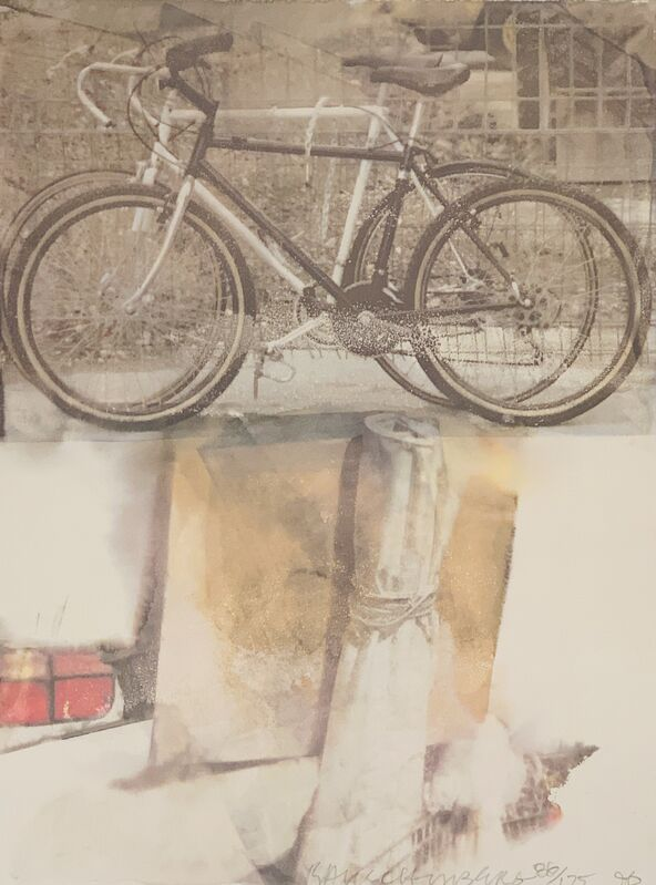 Robert Rauschenberg, 'Untitled (Bicycles)', 1996, Print, Lithograph printed in colors on Arches paper, to the edges, World House Editions