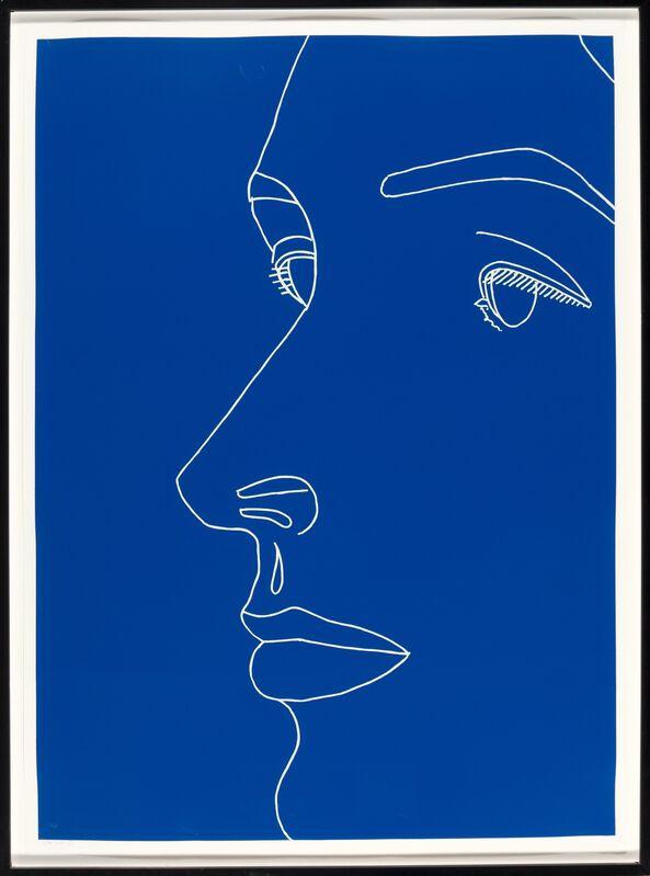 Alex Katz, 'Vivien on Blue', 2007, Print, Screenprint in colors on Rives BFK paper, Heritage Auctions