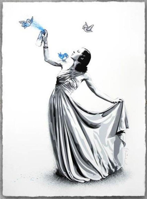 Mr. Brainwash, 'UNTITLED BLUE (NEPAL RELIEF)', 2015, Print, SCREENPRINT, Marcel Katz Art