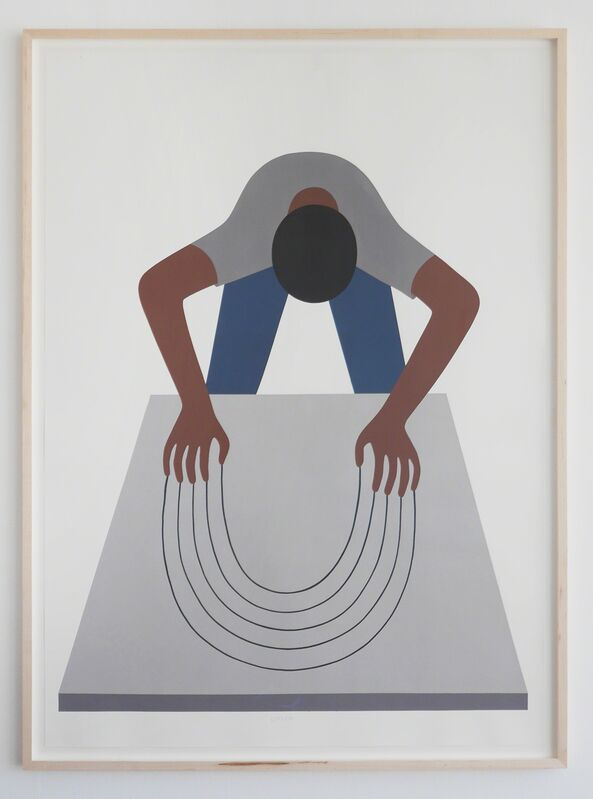 Geoff McFetridge, 'Bend the Void (Guy Clawing)', 2016, Painting, Acrylic on paper (coventry vellum), V1 Gallery