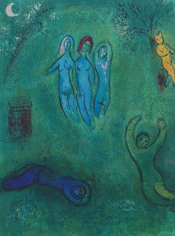 """Marc Chagall, '""""Le Songe de Daphnis et les Nymphes (Daphnis' Dream and the Nymphs),"""" from Daphnis et Chloé (Cramer 46; Mourlot 325)', 1977, Print, Offset lithograph on wove paper, Art Commerce"""