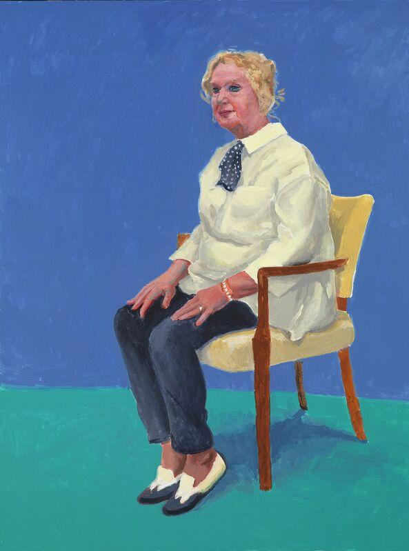 David Hockney, 'Celia Birtwell', 31st August, 1st, 2nd September 2015, Painting, Acrylic on canvas, Royal Academy of Arts