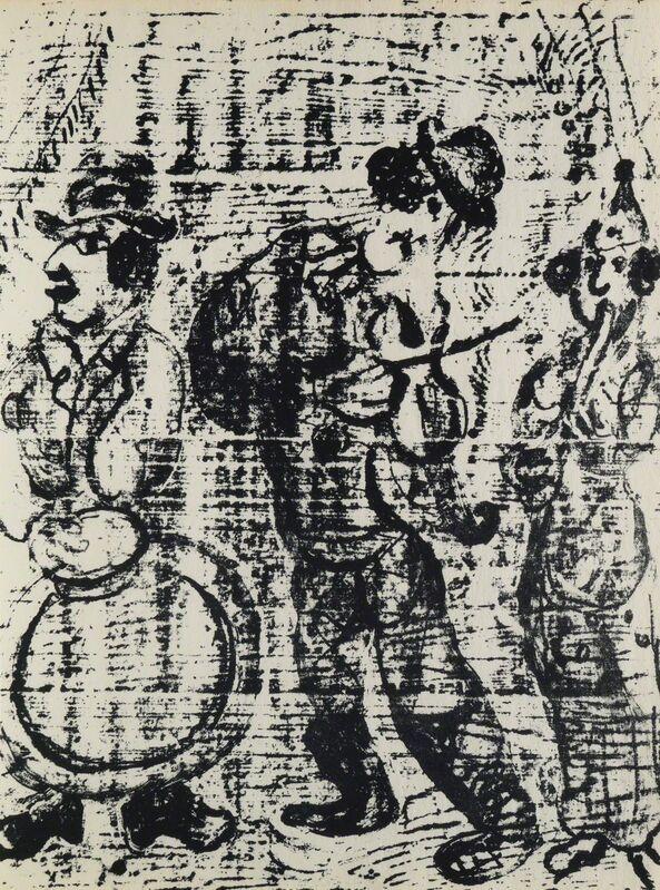 Marc Chagall, 'Les Musiciens Vagabonds', Design/Decorative Art, Lithograph, Roseberys