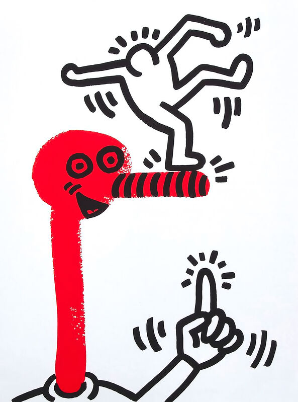 Keith Haring, 'Story of Red and Blue #20', 1990, Print, Silkscreen in colours on paper, Tate Ward Auctions