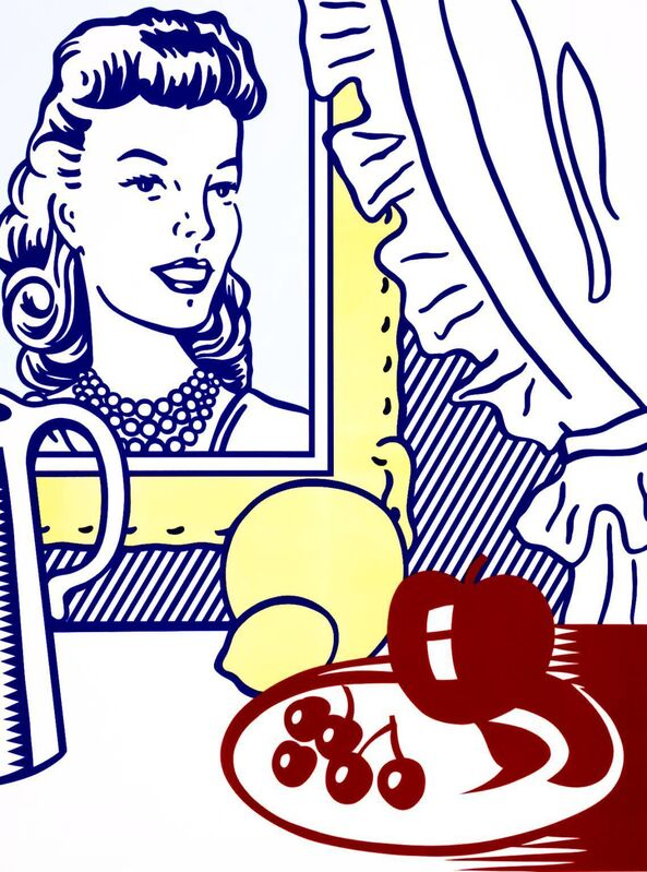 Roy Lichtenstein, 'Still life with portrait, from 'Six Still Lifes'', 1974, Print, Lithograph and serigraph on Rives BFK paper with blind stamp from Atelier, Invertirenarte.es