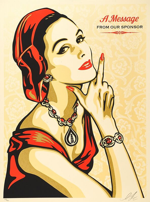 Shepard Fairey, 'A Message from Our Sponsors', 2015, Print, Screenprint in colors, Rago/Wright