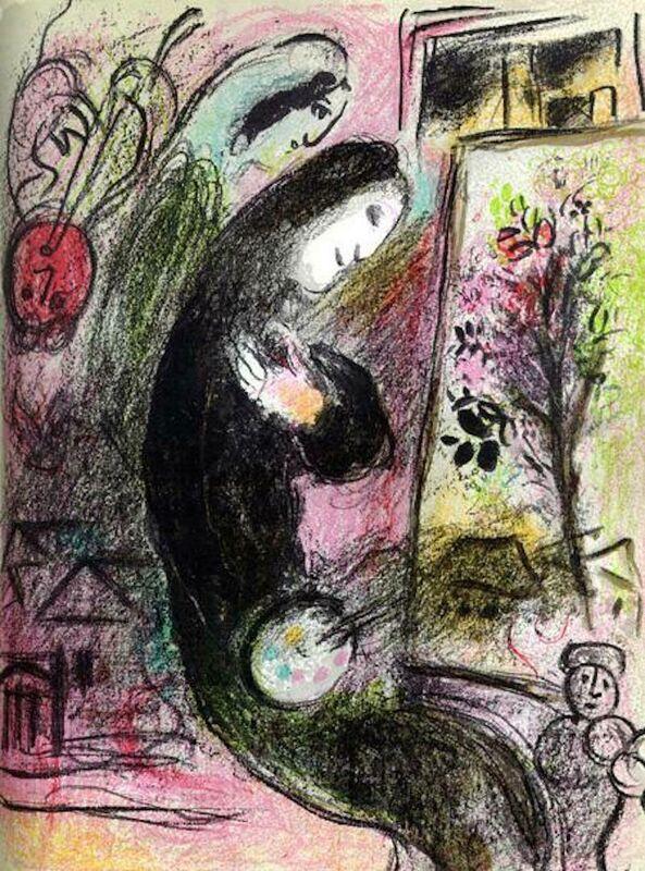 Marc Chagall, 'L'Inspire M. 398', 1960, Print, Lithograph, Fine Art Acquisitions Dali