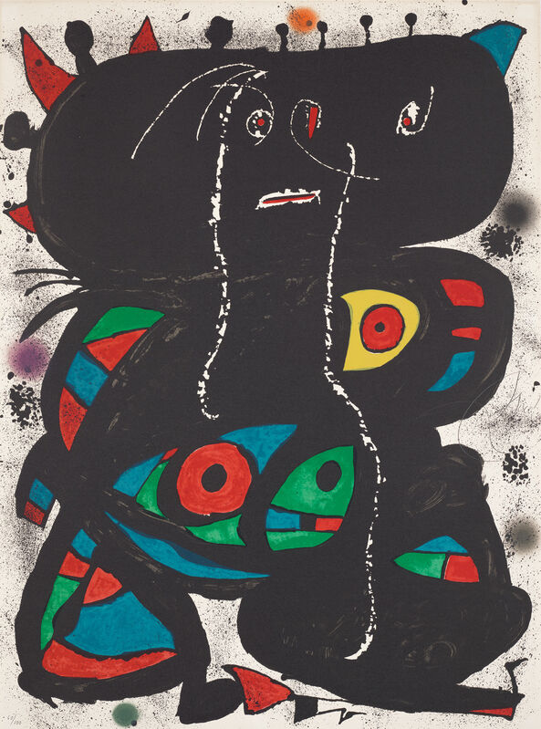 Joan Miró, 'Hommage aux Prix Nobel (Tribute to the Nobel Prizes)', 1976, Print, Lithograph in colours, on Arches paper, the full sheet., Phillips