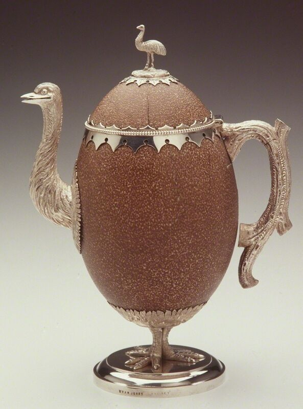 Evan Jones (1846-1917), 'Emu egg teapot ', ca. 1870, Design/Decorative Art, Powerhouse Museum
