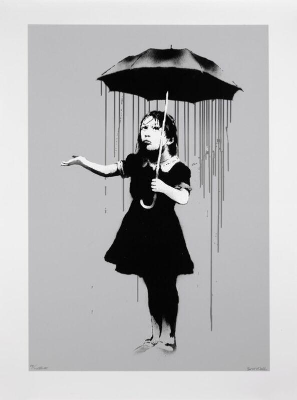 Banksy, 'Nola 'Grey Rain' (Signed)', 2008, Print, Screen Print in colors on wove paper, ArtLife Gallery