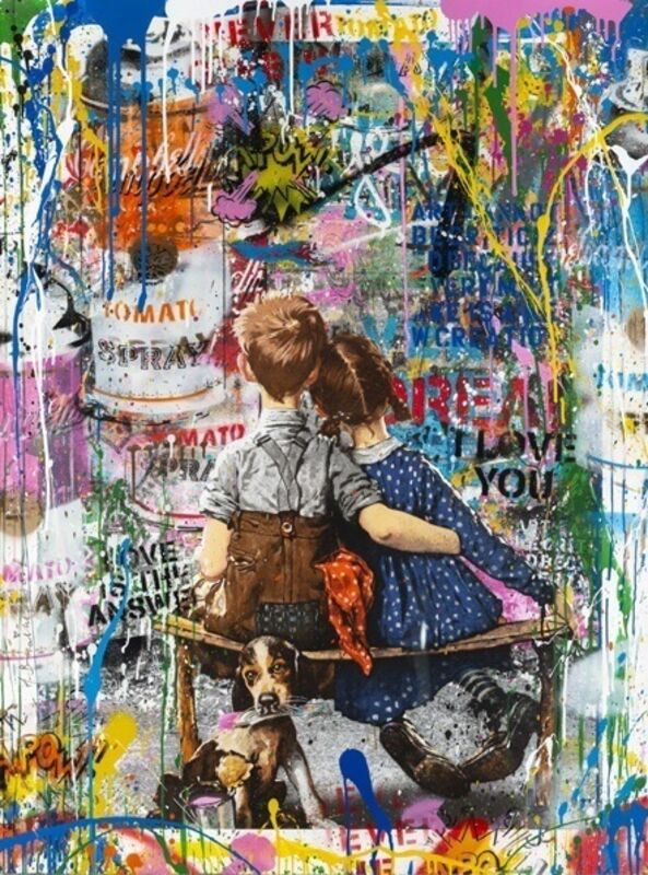 Mr. Brainwash, 'Work Well Together', 2018, Painting, Silkscreen and Mixed Media on Paper, Corridor Contemporary