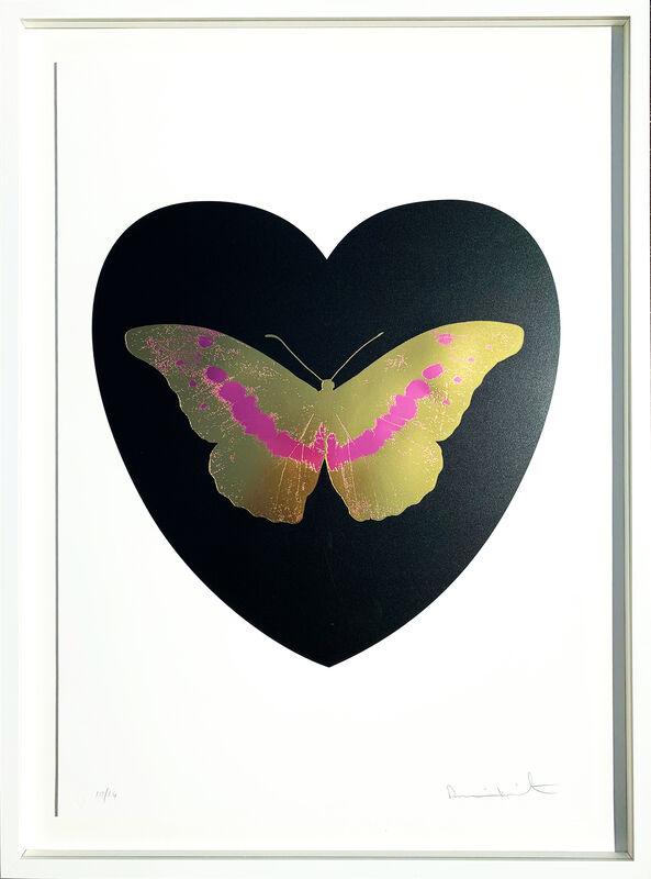 Damien Hirst, 'I Love You - black, cool gold, loganberry 10/14', 2015 , Print, Silkscreen and 2 colour foil block on Somerset Satin 410gsm. 9/14, AbrahamArt