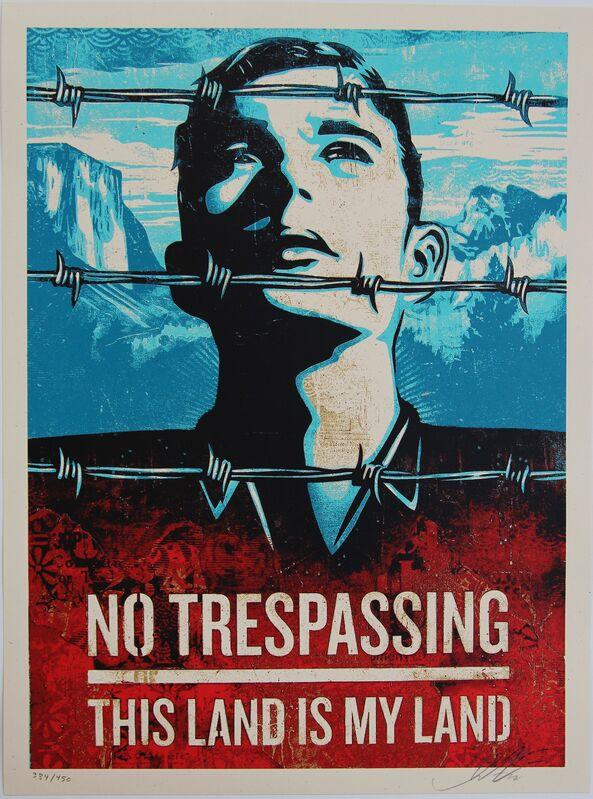 Shepard Fairey, 'This is Your Land', 2012, Print, Screen-print on cream Spekletone paper, Blackline Gallery
