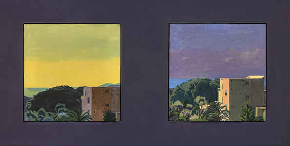 Graham Nickson, 'Torre del Greco Diptych', 1973