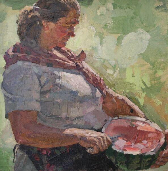 Viktor Petrovich Patrin, 'Peasant and watermelon', 1981
