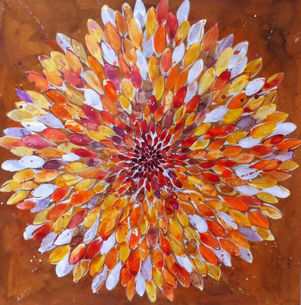 Idoline Duke, 'Big Orange Flower 4.16', 2016