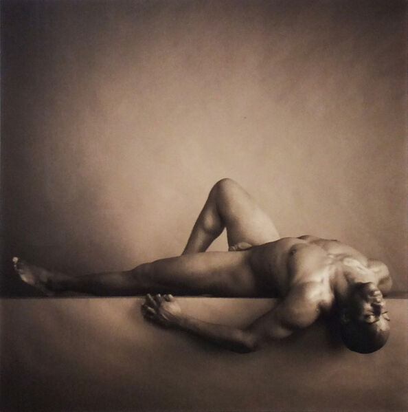 David Halliday, 'Male Nude on Back with Knee Up', 1999