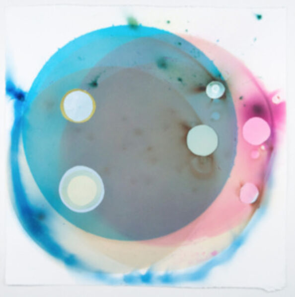 Rosemarie Fiore, 'Smoke Painting Eclipse, Blue', 2015