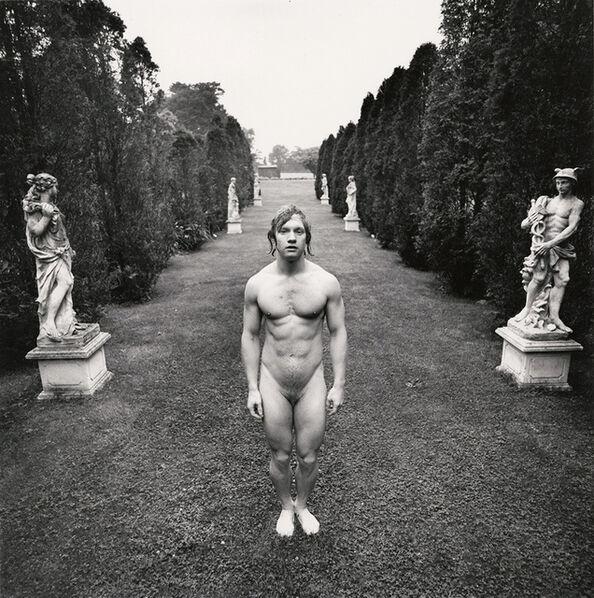 Arthur Tress, 'Hermaphrodite behind Venus and Mercury, East Hampton, NY', 1973/1973c