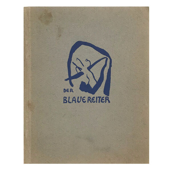 "Wassily Kandinsky, '""The Blue Rider (Der Blaue Reiter)"", 1912, The Second Exhibition Catalogue, Cover by Kandinsky, Published by Hans Goltz Munich, RARE', 1912"