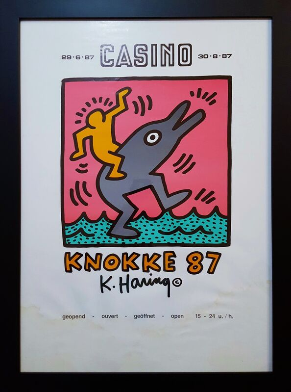 Keith Haring, 'Casino Knokke', 1987, Posters, Offset-Lithograph, Exhibition Poster, Graves International Art