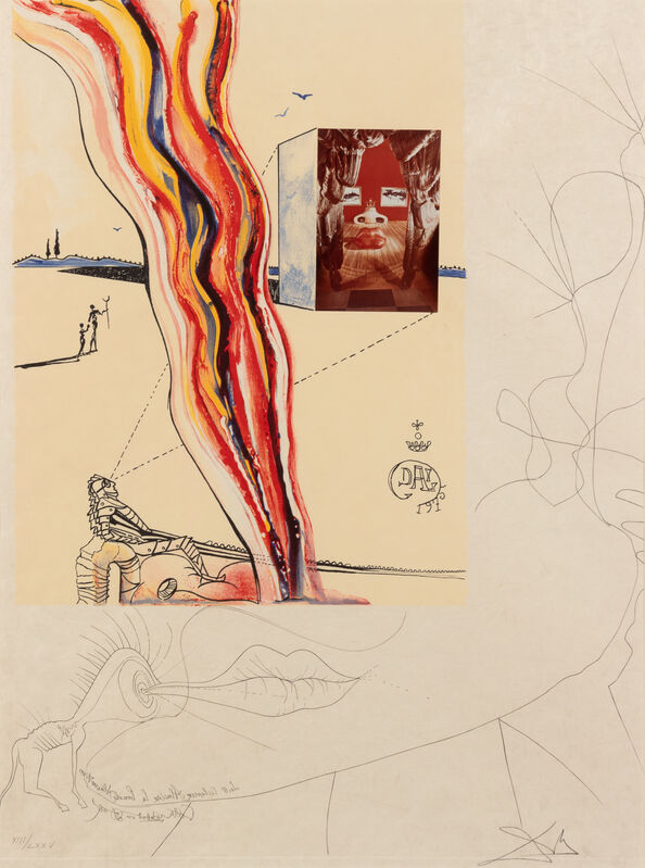 Salvador Dalí, 'Imagination and Objects of the Future (complete portfolio of 11 including Dalinean Prophecy)', Print, Drypoint, etching, lithograph, screenprint and collage, Hindman