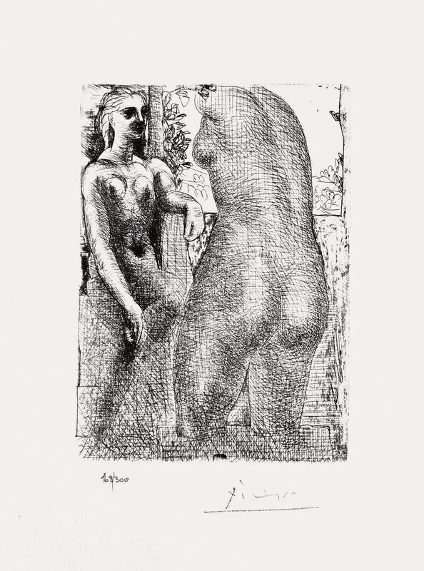 Pablo Picasso, 'Model and Sculptured Female Torso', 1990, Reproduction, Lithograph on wove paper, Art Commerce