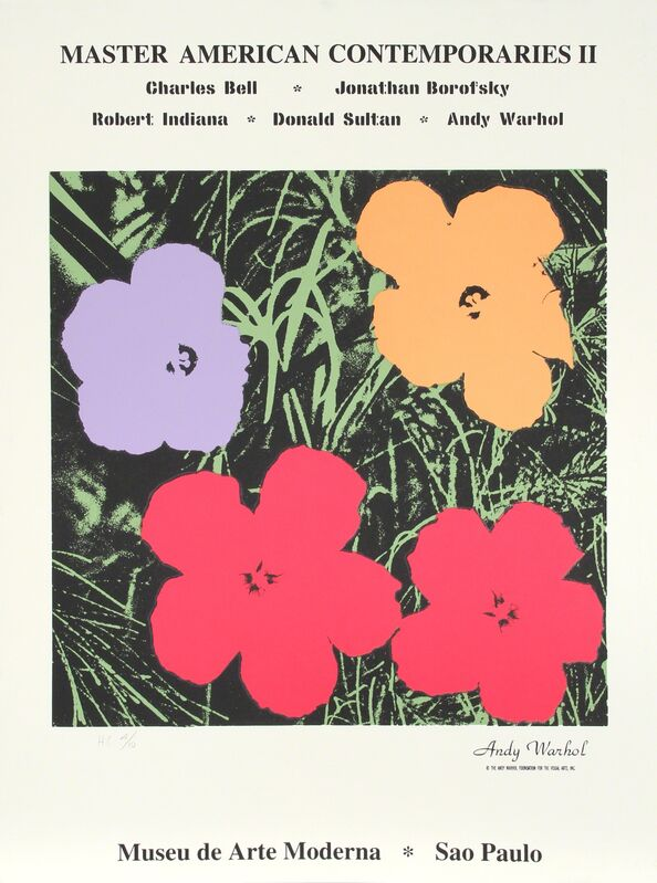 Andy Warhol, 'Flowers from Master American Contemporaries II', 1994, Print, Silkscreen, RoGallery
