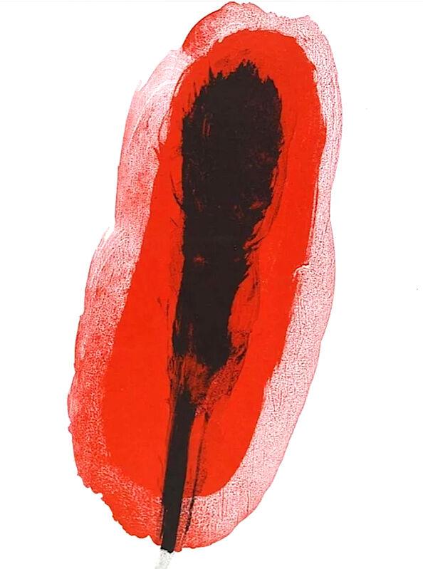 Joan Miró, 'Abstract red', 1961, Print, Velum paper, Modern-Originals