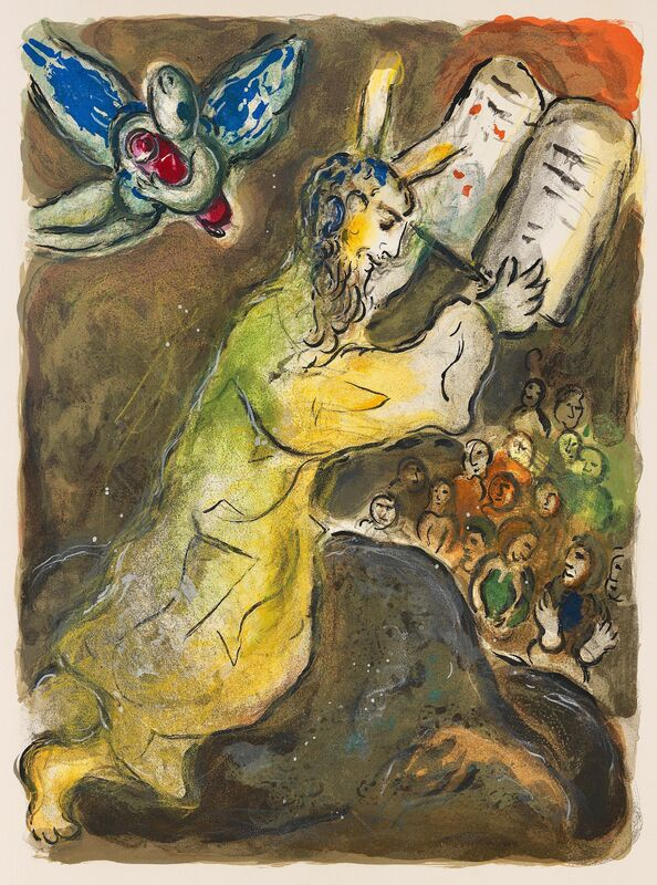 Marc Chagall, 'The Ten Commandments, The Story Of The Exodus', 1966, Print, Original Lithograph, Inviere Gallery