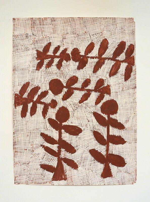 Nyapanyapa Yunupingu, 'Djorra (paper) 9', 2014, Drawing, Collage or other Work on Paper, Felt tip pen, earth pigments on discarded print proofs, Roslyn Oxley9 Gallery